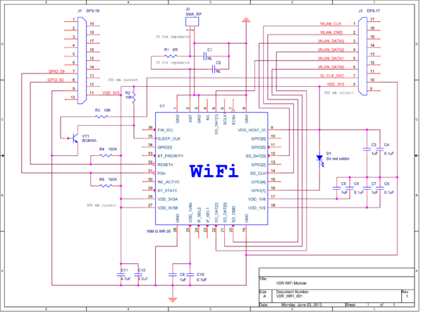 Схема модуля Virt2real Wi-Fi